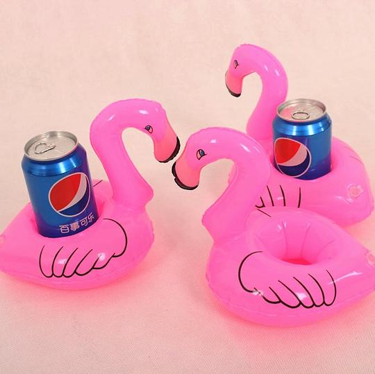 Urban Outfitters Pink Inflatable Flamingo Drink Holders - 4pk