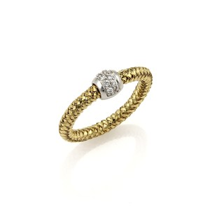Roberto Coin 20306 . Roberto Coin Primavera Diamond 18k Yellow Gold Ring