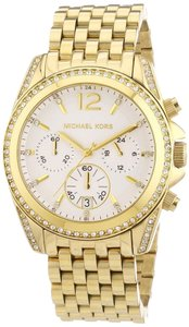 Michael Kors NWT Pressley Chronograph Glitz GOLD-TONE Watch MK5835