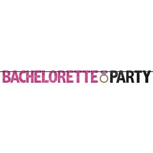 Party City Pink and Black Bachelorette Banner