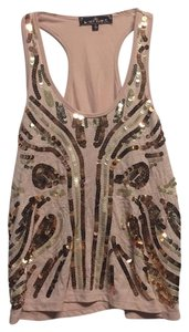 Almost Famous Clothing Top Pink/Gold