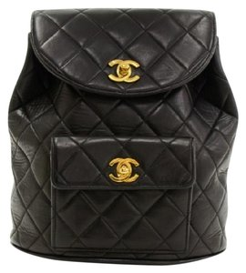 Chanel Leather Lambskin Backpack