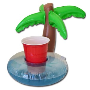 Gopong 'palm Tree' Inflatable Floating Drink Holder - 2pk
