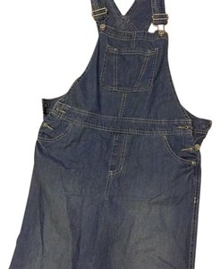 Overall Denim Relaxed Fit Jeans-Medium Wash
