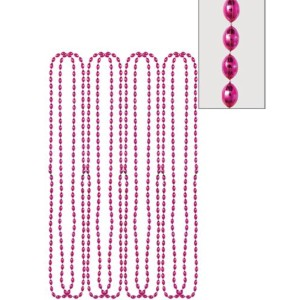 Metallic Pink Bead Necklaces