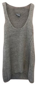 Vince Nordstrom Classic Linen Tunic Oversized Top Grey