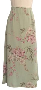 Jaclyn Smith Vintage Floral Maxi Skirt Green