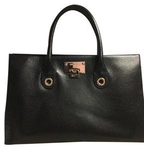Jimmy Choo Vintage Soft Leather Tote in Black