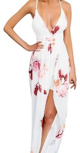 White and Pink Maxi Dress by Hello Molly