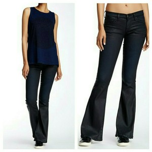 Current/Elliott Flare Leg Jeans-Coated