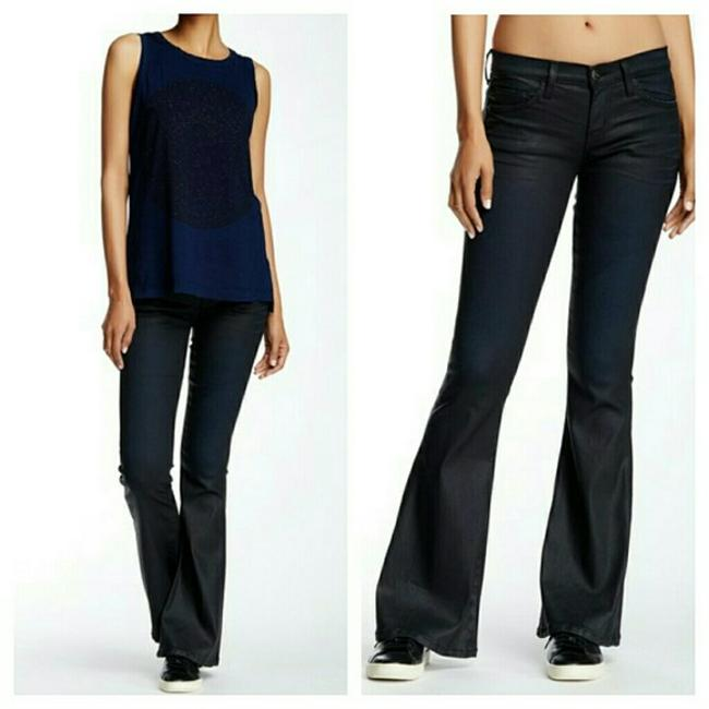 Item - Dark Blue Coated Low Bell Bottom Flare Leg Jeans Size 25 (2, XS)