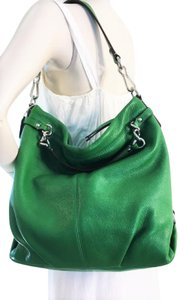 Coach Green Tote Leather Shoulder Bag