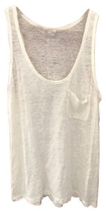 Joie Linen Sheer Essential Classic Layering Top bone