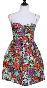 Moda International short dress Multi Color Cotton Floral Strappy on Tradesy