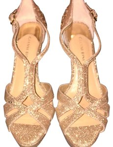Gianni Bini gold with silver sparkles Platforms