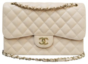 Chanel Jumbo Double Flap Wheat Caviar Shoulder Bag