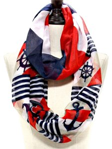 other Nautical Anchor Helm Multicolor Infinity Spring Scarf