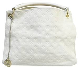 Louis Vuitton Lv White Empreinte Artsy Mm Tote in Ivory