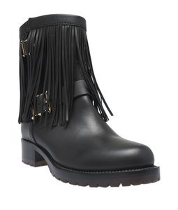Valentino Ankle Leather Black Boots