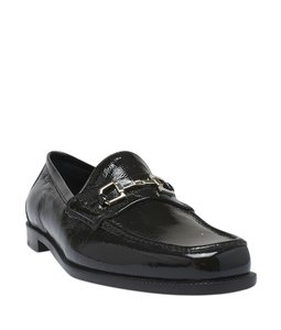 Gucci Loafers Patent Leather Black Sandals