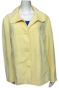 Talbots New Nwt Spring Striped 2x 22 Blazer Coat Buttoned Anchor Summer yellow Jacket