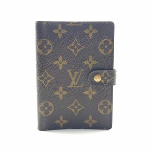 Louis Vuitton monogram canvas fonctionnel small agenda PM gold ring cover