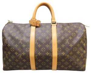 Louis Vuitton Lv Keepall 45 Canvas Tote in monogram