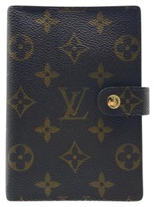 Louis Vuitton Louis Vuitton monogram small agenda PM gold ring cover