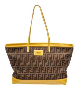 Fendi Tote in Brown/Yellow