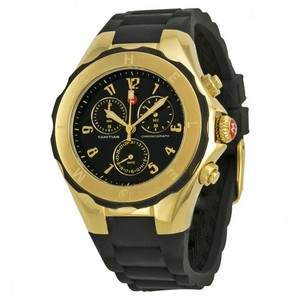 Michele MICHELE Tahitian Jelly Bean Black & Gold 40mm Chronograph Watch
