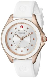 Michele Michele Womens Mww27A000004 Cape Stainless Steel Watch With White