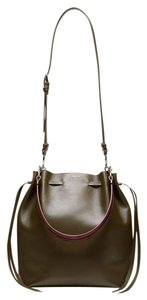 Theory Calfskin Leather Drawstring Bucket Shoulder Bag
