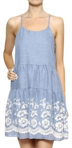 Style Rack short dress Blue Crochet Lace Summer on Tradesy