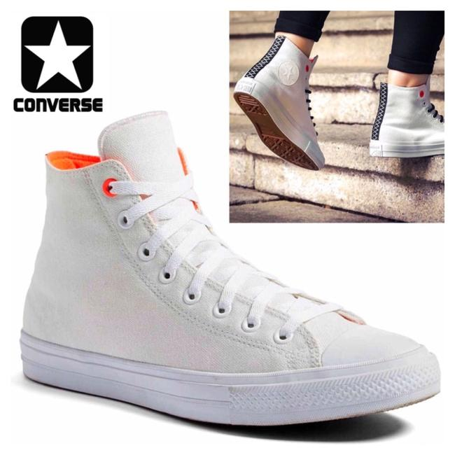 Item - White Lava Gum Stylish Water Repellent High Tops Sneakers Size US 7.5 Regular (M, B)