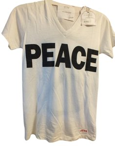 Peace Love World T Shirt Off white
