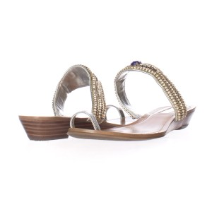 INC International Concepts Silver Sandals