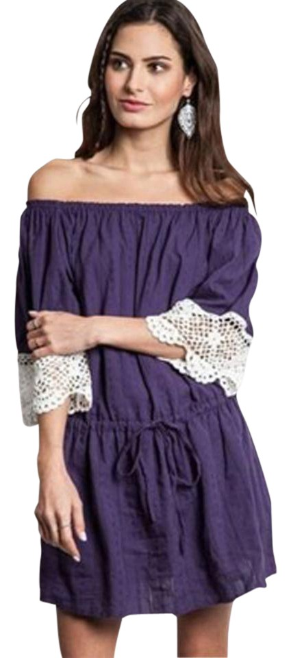 934704d10f Umgee short dress Purple Violet Lace Bohemian on Tradesy Image 0 ...