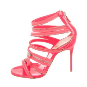 Christian Louboutin Hot pink, silver Sandals