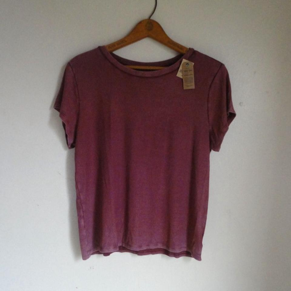 American Eagle Outfitters Ribbed Washed Mauve Pink T Shirt