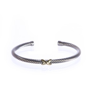 David Yurman X-Station Bracelet with Yellow Gold 4mm size Medium $495 NEW