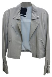 VEDA Cream Leather Jacket