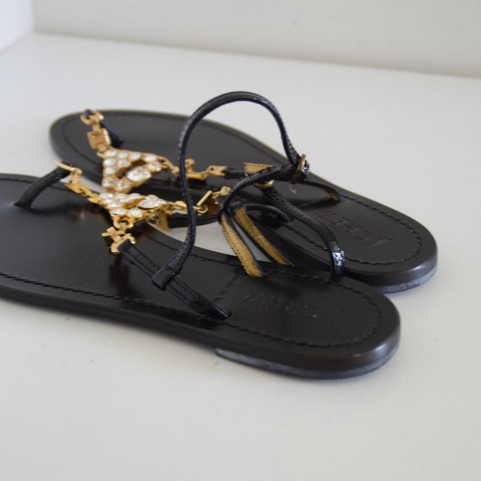 237ef6e8b26e J.Crew Jeweled Leather Capri Sandals Size US 6 Regular (M