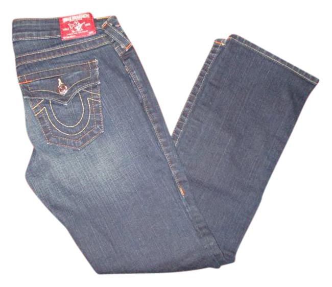 Item - Blue Dark Rinse Section Billy Boot Cut Jeans Size 27 (4, S)