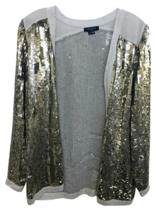 Gryphon Evening Gold Sequin and Cream Jacket