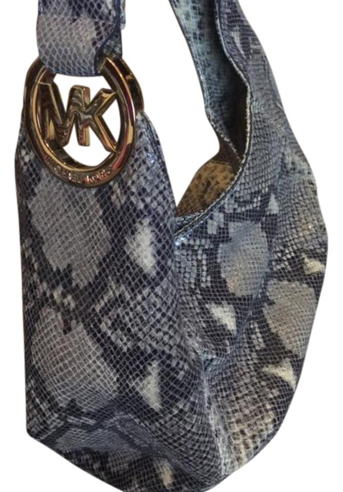 Michael Kors Python Snake White Grey Light Green Various Color Gold Python  Skin Leather Hobo Bag 1bc9fe41290be