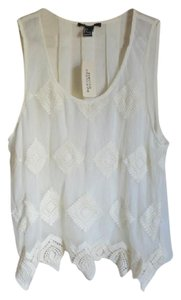 Forever 21 21 F21 21 Cream Tank Top