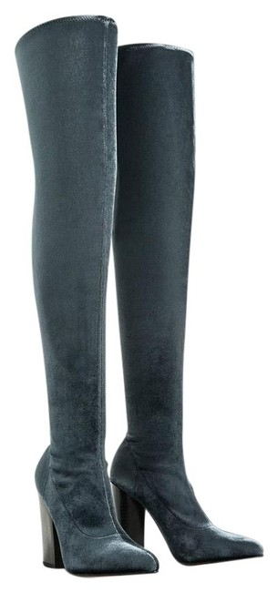 Item - Blue Box New Velvet Over The Knee Stretch Boots/Booties Size US 6 Regular (M, B)