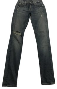 7 For All Mankind Distressed Size23 Skinny Jeans-Medium Wash