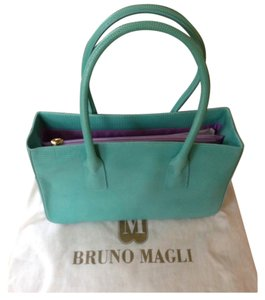 Bruno Magli Satchel in Turquoise