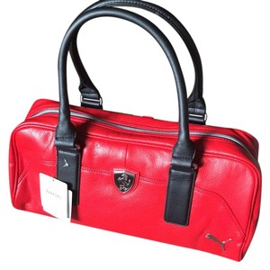 Puma Tote in Ferrari red with black handles